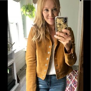 NWOT Free People Charlotte Suede leather jacket
